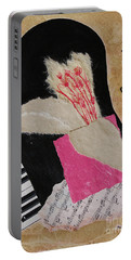Portable Battery Charger featuring the painting Piano Still Life by Mini Arora