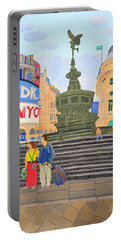 London- Piccadilly Circus Portable Battery Charger by Magdalena Frohnsdorff