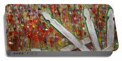 Picket Fence Flower Garden Portable Battery Charger