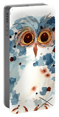 Pier 1 Owl Portable Battery Charger by Dawn Derman