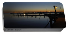 Pier At Chandlers Landing Rockwall Tx Portable Battery Charger by Charles Beeler