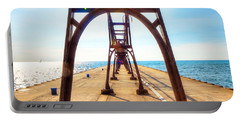 Pier At South Haven Portable Battery Charger