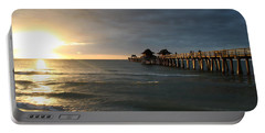 Pier Sunset Naples Portable Battery Charger