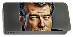 Pierce Brosnan Portrait Portable Battery Charger