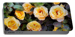 Pierre's Peach Roses Portable Battery Charger
