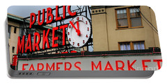 Pike Place Farmers Market Sign Portable Battery Charger