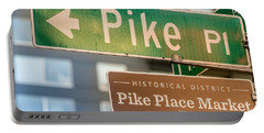 Pike Place Market Sign Portable Battery Charger