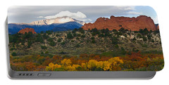 Pikes Peak Fall Pano Portable Battery Charger