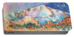 Pikes Peak Over The Garden Of The Gods Portable Battery Charger