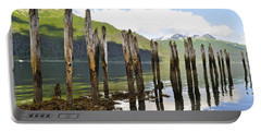 Portable Battery Charger featuring the photograph Pilings by Cathy Mahnke