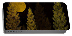 Pine Forest Moon Portable Battery Charger