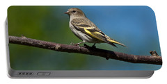 Pine Siskin Perched On A Branch Portable Battery Charger