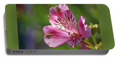 Pink Alstroemeria Flower Portable Battery Charger