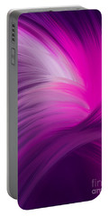 Pink And Purple Swirls Portable Battery Charger
