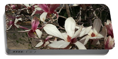 Portable Battery Charger featuring the photograph Pink And White Spring Magnolia by Caryl J Bohn