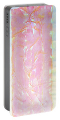 Pink Angel Softly Passing Portable Battery Charger by Asha Carolyn Young