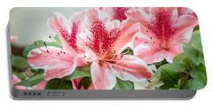 Pink Azaleas Portable Battery Charger