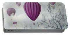 Pink Balloons Portable Battery Charger