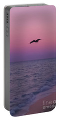 Pink Beach Sunset Portable Battery Charger