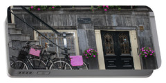 Pink Bikes Of Amsterdam Portable Battery Charger