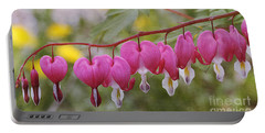 Pink Bleeding Hearts Portable Battery Charger