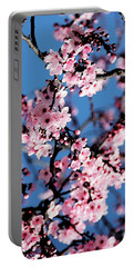 Pink Blossoms On The Tree Portable Battery Charger