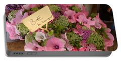 Portable Battery Charger featuring the photograph Pink Bouquet by Carla Parris