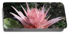 Pink Bromeliad  Bloom Portable Battery Charger