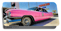 Pink Cadillac Portable Battery Charger
