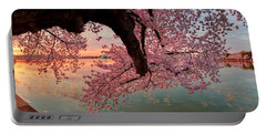 Pink Cherry Blossom Sunrise Portable Battery Charger