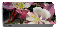Portable Battery Charger featuring the photograph Pink Columbine by Caryl J Bohn