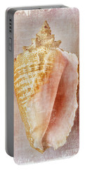 Pink Conch Portable Battery Charger