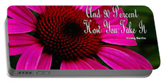 Pink Coneflower Portable Battery Charger