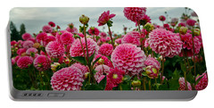 Pink Dahlia Field Portable Battery Charger