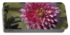Pink Dahlia Portable Battery Charger by Jeff Kolker