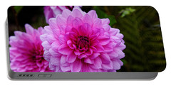 Pink Dahlias Portable Battery Charger