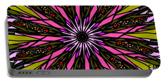 Portable Battery Charger featuring the digital art Pink Explosion by Elizabeth McTaggart