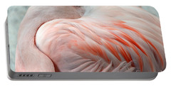 Portable Battery Charger featuring the photograph Pink Flamingo II by Robert Meanor