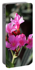 Pink Flower  Portable Battery Charger by Ramabhadran Thirupattur