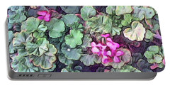 Pink Flowers Painting Portable Battery Charger