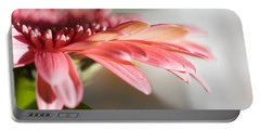 Pink Gerber Daisy Portable Battery Charger