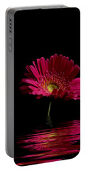 Pink Gerbera Flood 1 Portable Battery Charger
