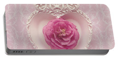 Pink Heart - Pink Camellia Portable Battery Charger