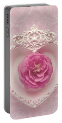 Pink Heart - Pink Camellia Portable Battery Charger by Cindy Garber Iverson