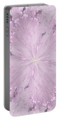 Portable Battery Charger featuring the digital art Pink Hibiscus by Victoria Harrington