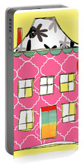 Pink House Portable Battery Charger