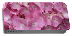 Pink Hydrangea Portable Battery Charger