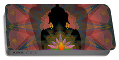 Pink Lotus Buddha Portable Battery Charger