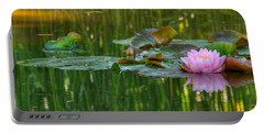 Pink Lotus Flower Portable Battery Charger