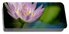 Purple Petals Lotus Flower Impressionism Portable Battery Charger